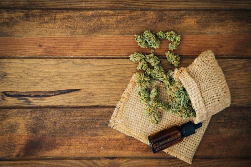 CBD And Cannabis On A Table