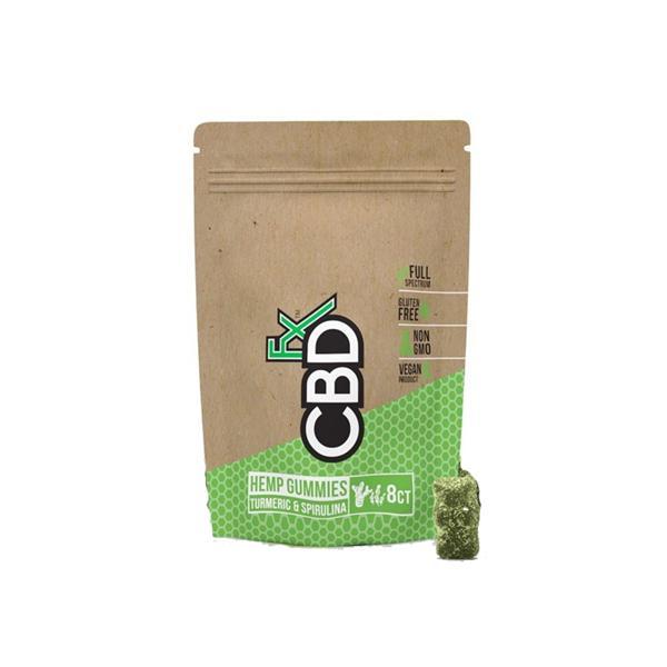 CBDFX CBD Gummies 40mg Turmeric & Spirulina 8ct Pouch