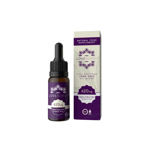Loveburgh 420mg Hemp Seed CBD Oil 10ml