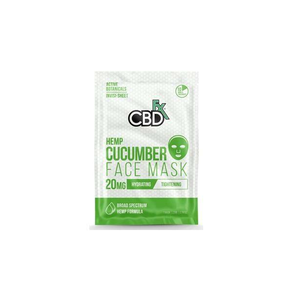 CBDfx 20mg CBD Face Mask - Cucumber