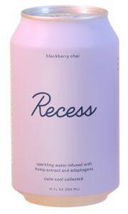 Recess CBD Sparkling Water Blackberry Chai