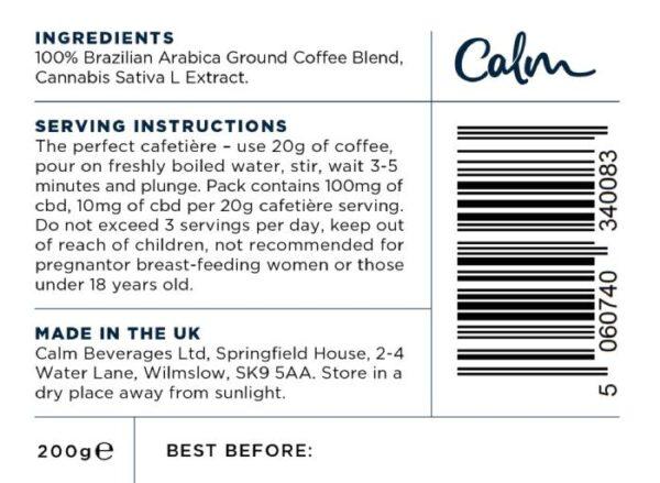 Calm Coffee Label