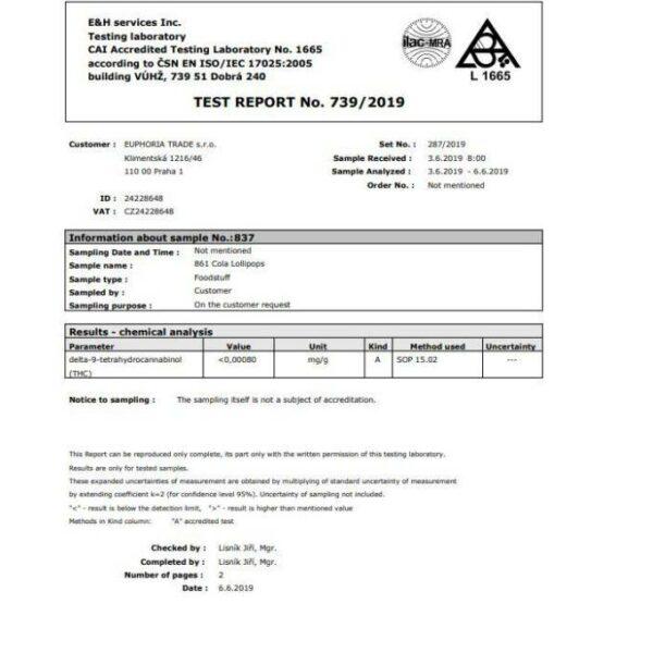 Cannabinoid Profile - Lab Report