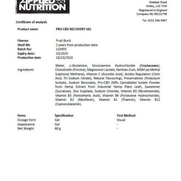 Applied Nutrition Lab Report