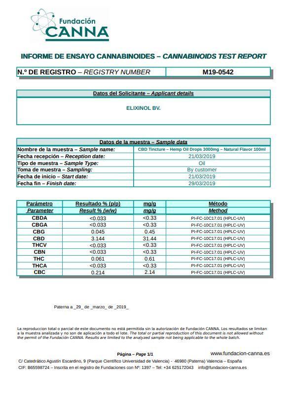 Elixinol Hemp CBD 30ml Pure CBD Extract in MCT Oil