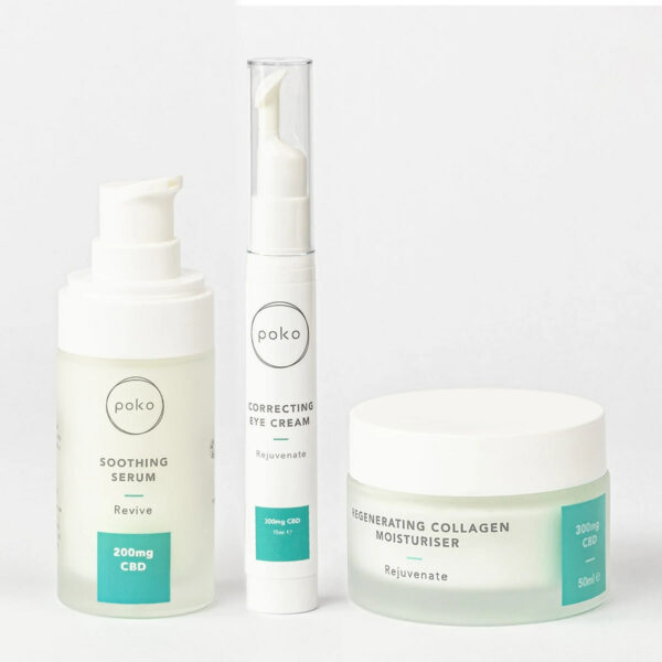 Poko Brightening Skincare gift set products