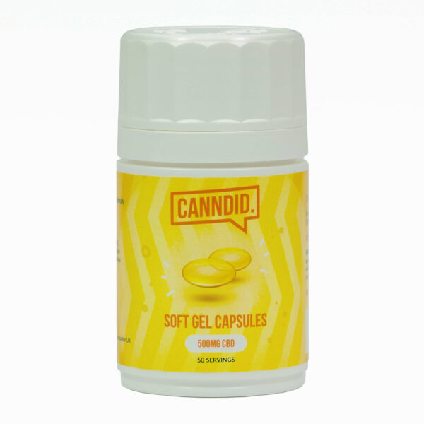 Canndid 500mg CBD Soft Gel Capsules