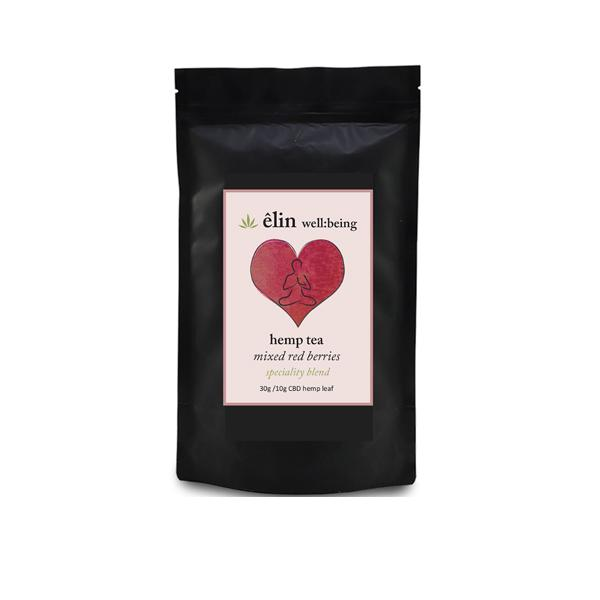 Êlin Well:being 10mg CBD Hemp Tea 30g - Mixed Red Berries