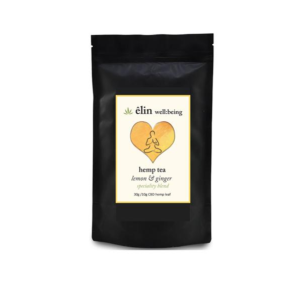 Êlin Well:being 10mg CBD Hemp Tea - Lemon and Ginger tea
