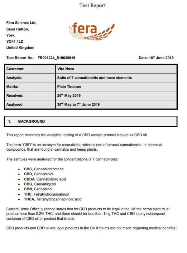 1CBD 500mg CBD Oil 10% Pure Hemp Bronze Edition 5ml Certificate