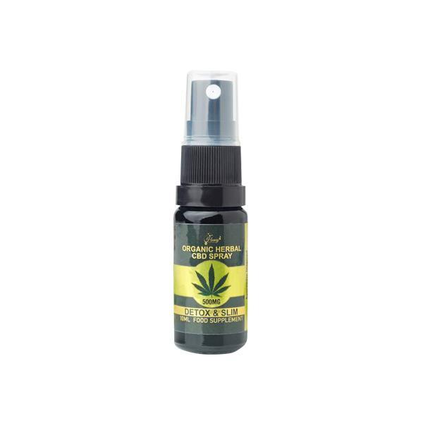Honey Heaven 500mg Detox & Slim Organic Herbal CBD Spray 10ml