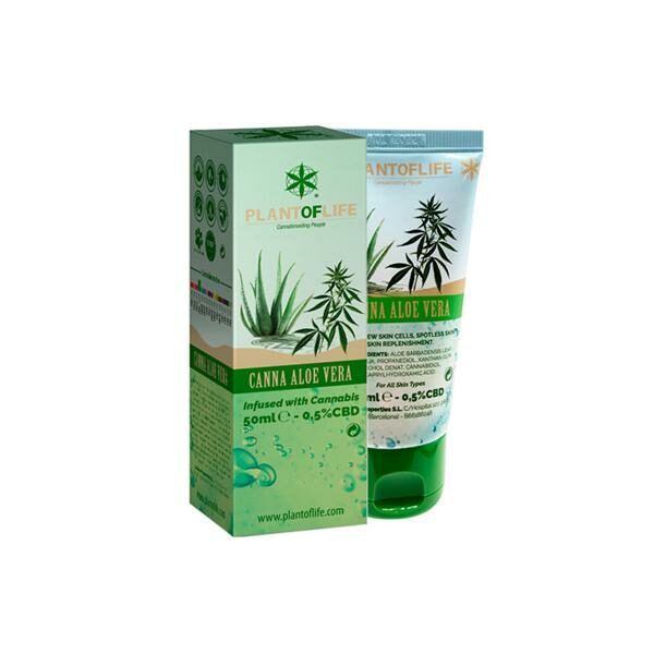 Plant of Life 0.5% CBD Aloe Vera Skin Care 50ml