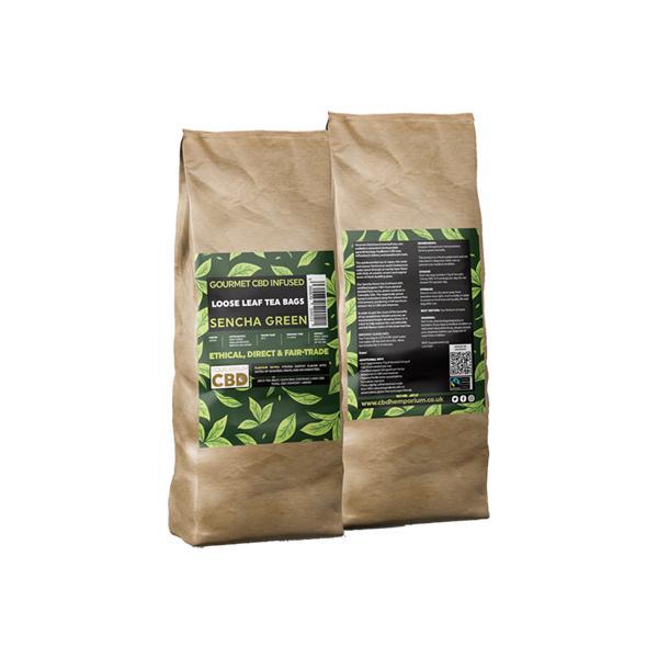 Equilibrium CBD Gourmet Loose 100 Tea Bags Bulk 340mg CBD - Sencha Green