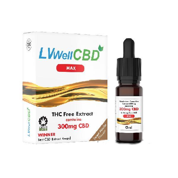 LVWell CBD 300mg 10ml Max Hemp Seed Oil