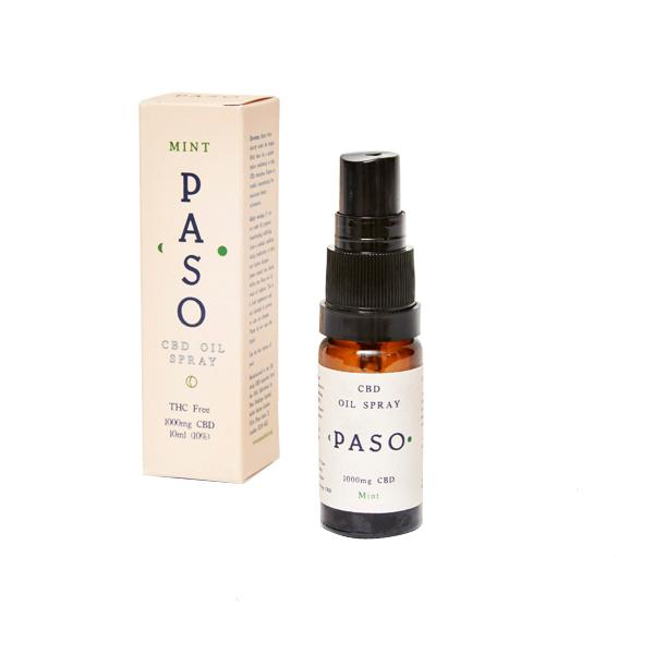 Paso CBD Oral Oil Spray 1000mg (10ml) Mint