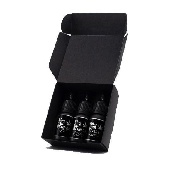NKD 50mg CBD Infused Speciality Beard Oils Gift Set