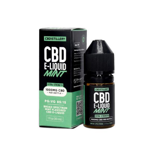 CBDistillery 1000mg CBD E-Liquid 30ml Mint
