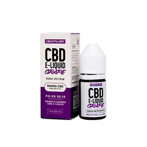 CBDistillery 500mg CBD E-Liquid 30ml (85VG/15PG) Grape