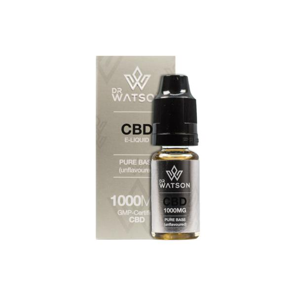 Dr Watson 1000mg Pure Base CBD Vaping Liquid 10ml