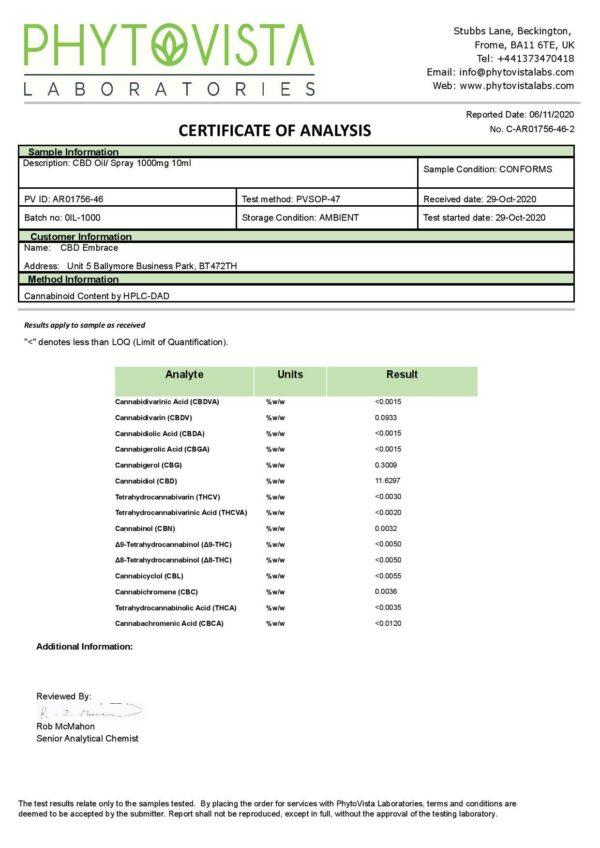 TREET 1000mg CBD Organic Full Spectrum CBD Oil 10ml