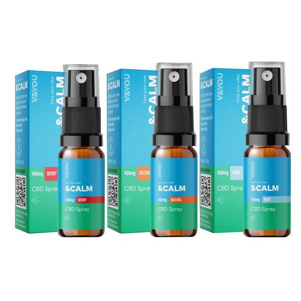 V&YOU CBD &Calm 400mg CBD Spray 10ml