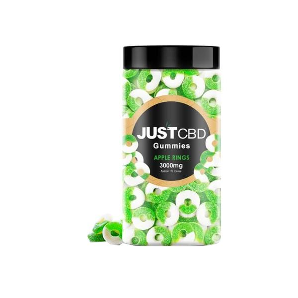 Just CBD Flavoured Gummies 3000mg CBD Apple Rings