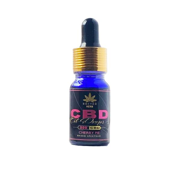 Doctor Herb 500mg CBD Broad Spectrum Flavoured Oil Cherry Pie