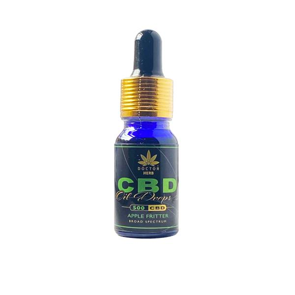 Doctor Herb 500mg CBD Broad Spectrum Flavoured Oil Apple Fritter