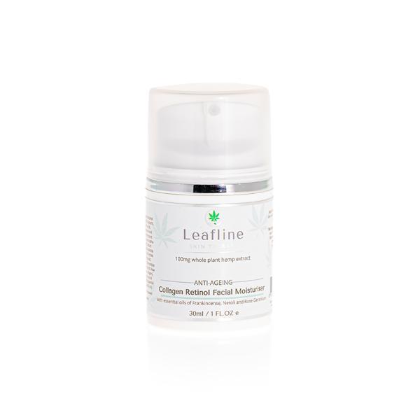 CBD Leafline 100mg CBD Collagen Retinol Face Cream 30ml