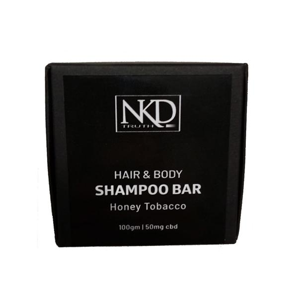 NKD 50mg CBD Speciality Body & Hair Shampoo Bar 100g – Honey Tobacco