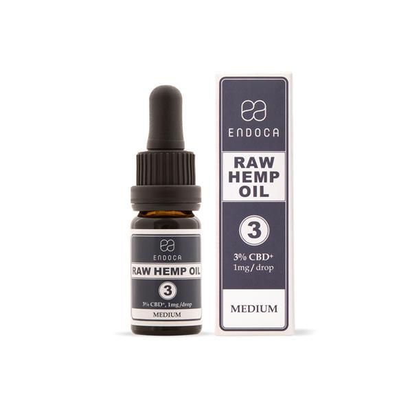 Endoca 300mg CBD+CBDa RAW Hemp Oil Drops 10ml
