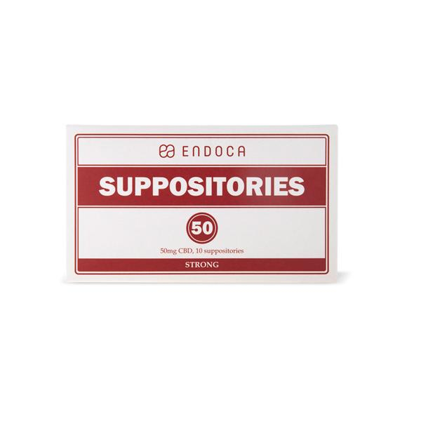 Endoca 500mg CBD Suppositories - 10 Count