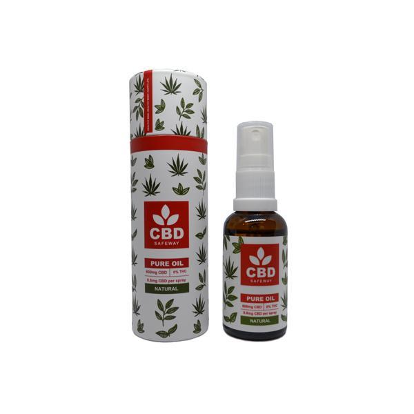 CBD Safe Way 600mg CBD MCT Oil Spray - 30ml