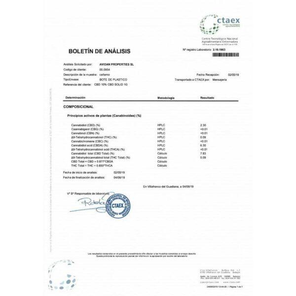 CBD Hash 1g Cookies 10% Plant Of Life Certificate