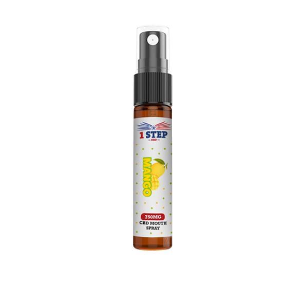 1 Step CBD 750mg CBD Mouth Spray 10ml