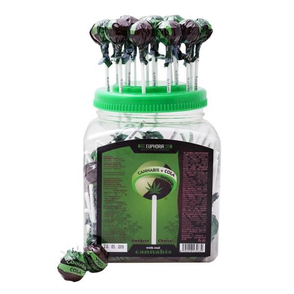 Euphoria Cannabis Cola Lollipops 12g x 100pcs (Approx)