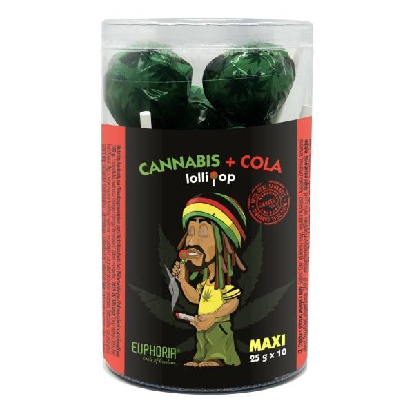 Euphoria Cannabis Cola Lollipops 12g x 10pcs  (Approx)