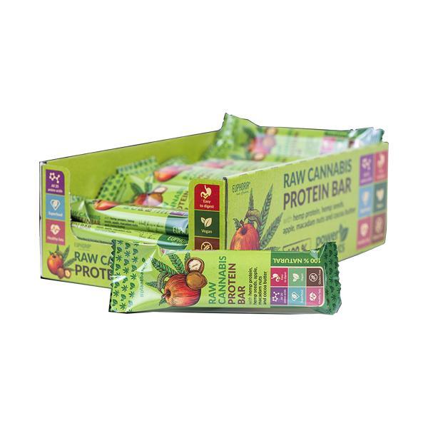 Euphoria Raw Cannabis Protein Bar Apple Flavour