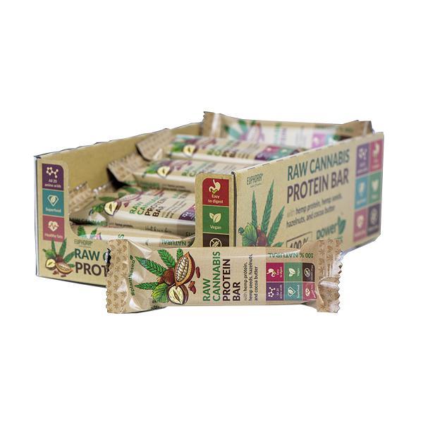 Euphoria Raw Cannabis Protein Bar – Cocoa Flavour