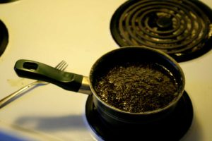 ABV Cannaoil cooking on the stove!