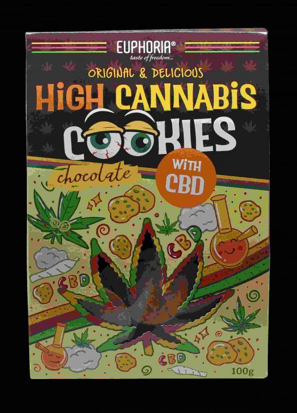 Euphoria High Cannabis Chocolate Cookies CBD