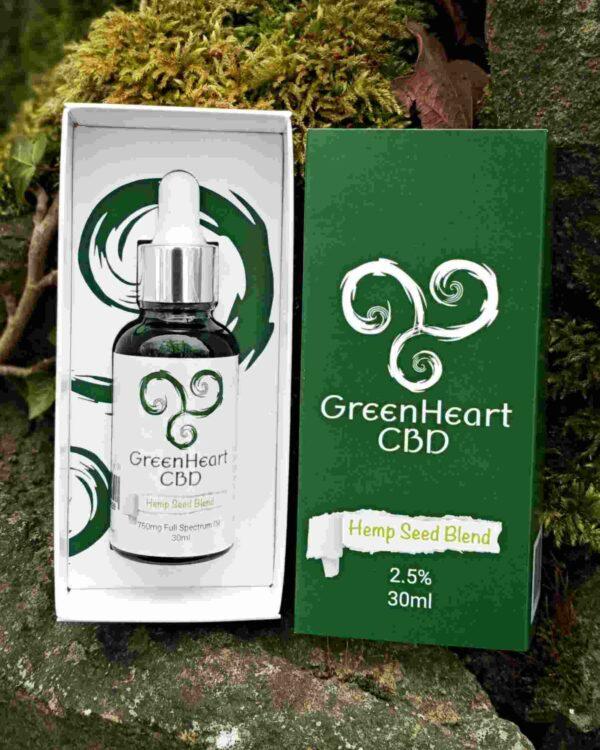 Greenheart Cbd 750mg Full Spectrum Hemp Oil 30ml