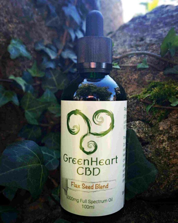 GreenheartCBDmgFullSpectrumFlaxseedBlend ml