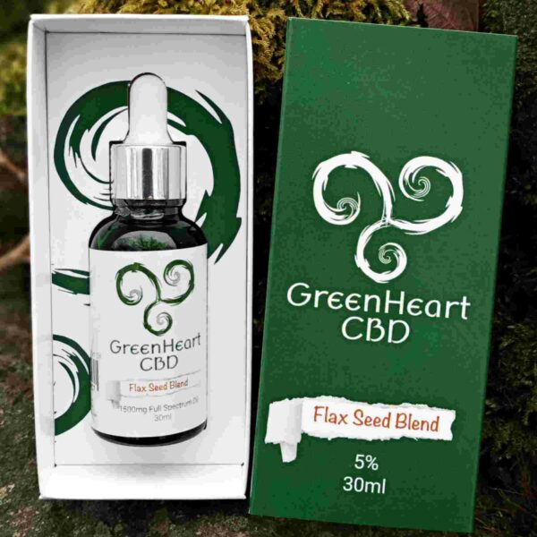 Greenheart CBD 1500mg Full Spectrum Flaxseed Blend - 30ml