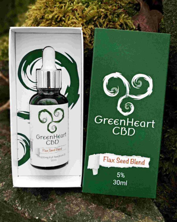 Greenheart CBD 1500mg Full Spectrum Flaxseed Blend - 30ml